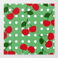 cherry Canvas Prints featuring cherry by vitamin