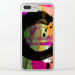 Enso No.305B by Kathy Morton Stanion Clear iPhone Case