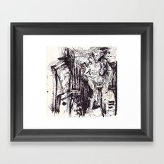 Him & She Framed Art Print