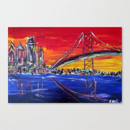 Ben Franklin Bridge Sunrise Canvas Print