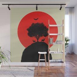Red Sun v2 Wall Mural
