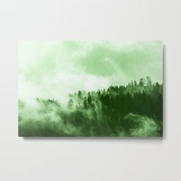 Clear away the fog to see the light. Green Metal Print