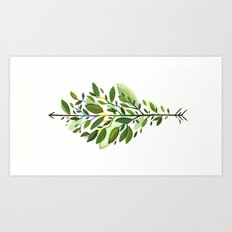 Leaf Arrow Art Print