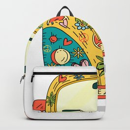 Hippie Bus Peace Backpack