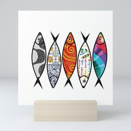 Sardines 5 colour Mini Art Print