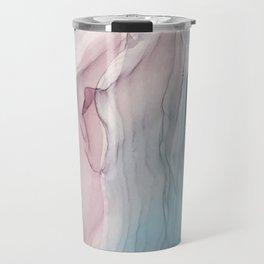 Calming Pastel Flow- Blush, grey and blue Travel Mug