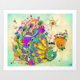 The Peacock Dance Art Print