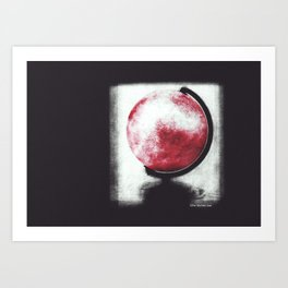 The world Globe - photopolymer/gravure Art Print
