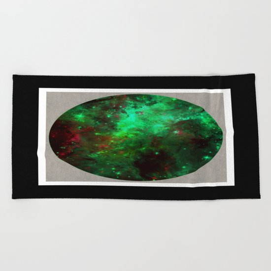 Captured Space - Abstract, geometric, outer space themed art Beach Towel
