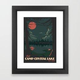 Visit Camp Crystal Lake Framed Art Print