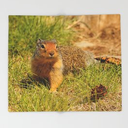 Twitchy Nosed Columbian Ground Squirrel Throw Blanket