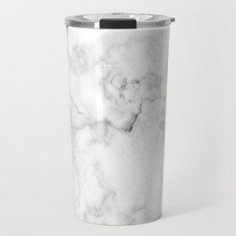 Marble White Grey Pattern Travel Mug