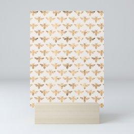 Honey Bees (Sand) Mini Art Print