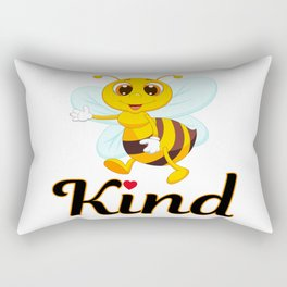 Bee Kind & Loving, Anti Bullying, Autism Awareness, Save the Bees & the Environment Rectangular Pillow