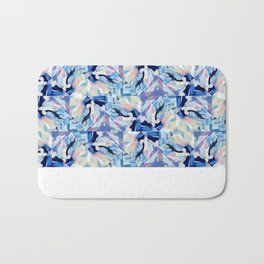 Bibbity Bobbity Blue (Abstract Painting) Bath Mat