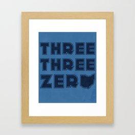 Three Three Zero - OHIO Framed Art Print
