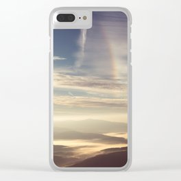 Morning Rainbow Clear iPhone Case