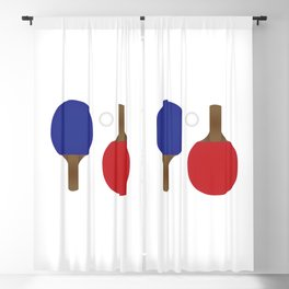 Ping Pong Rackets Blackout Curtain