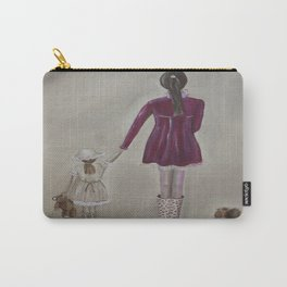 girl and dog Carry-All Pouch