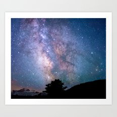 The Night Sky II - glowing stars Art Print