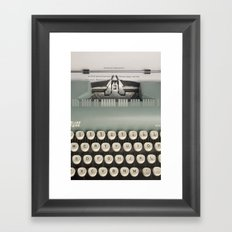 American Typewriter Framed Art Print