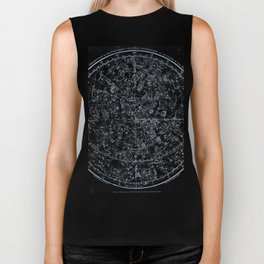 Northern Hemisphere Constellations White Blue Biker Tank