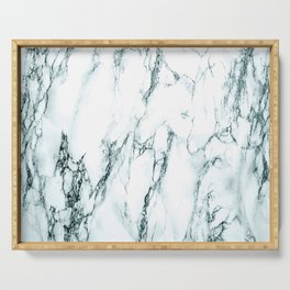 Green Marble Look Serving Tray