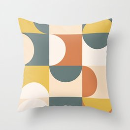 Mid Century Modern Geometric 23 Throw Pillow