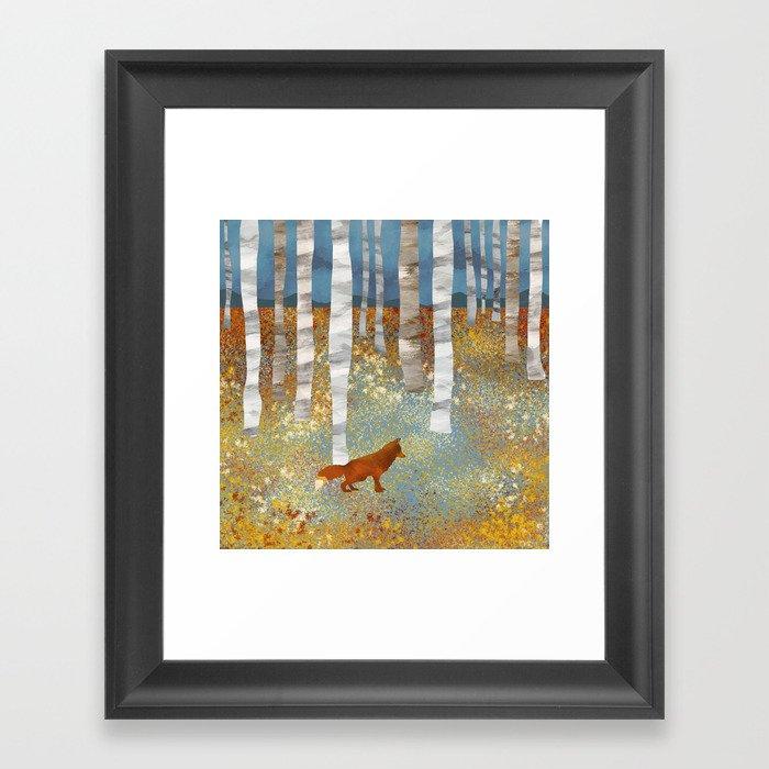Autumn Fox Gerahmter Kunstdruck