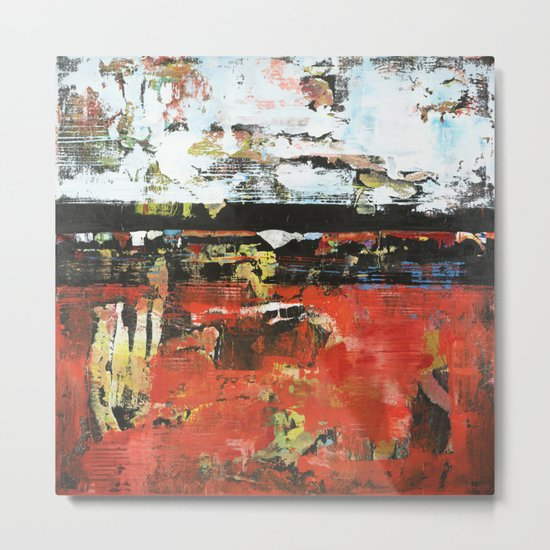 Jacksonville Orange Abstract Painting Metal Print