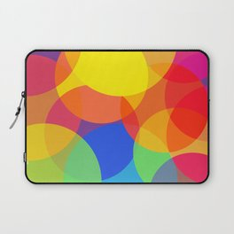 Abstract Colorful Round Lights Laptop Sleeve