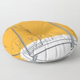 origin of symmetry Floor Pillow
