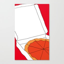 Hot Pizza Box Canvas Print
