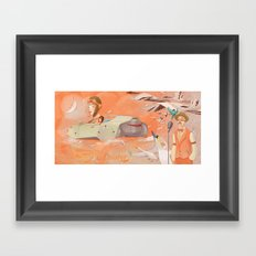 Aviator Orange Framed Art Print
