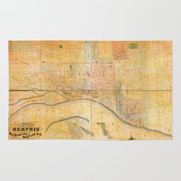 Map of the City of Memphis, Tennessee (1858) Rug