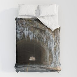 Icy Tunnel Pass If You Dare Comforters