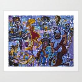 Jazz Squares Art Print