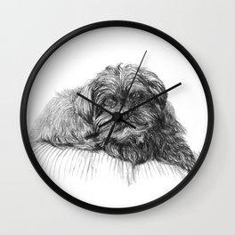Shih Poo Resting Wall Clock
