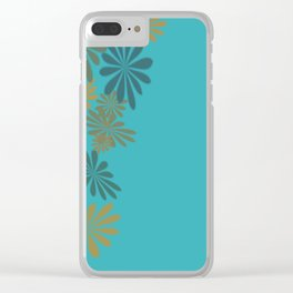 Teals & Golds Clear iPhone Case