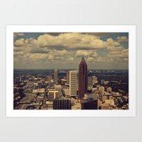 atlanta Art Prints featuring Atlanta by Ubik Designs