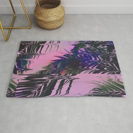 Glitchy Palm Rug
