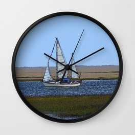 Set Sails For Florida For the Winter Wall Clock