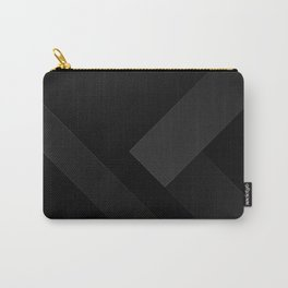 Black Geometric Shape Pattern Carry-All Pouch