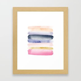 Brushstroke Ombre Abstract Framed Art Print