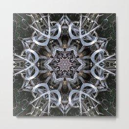 Dark Natural Mandala Metal Print