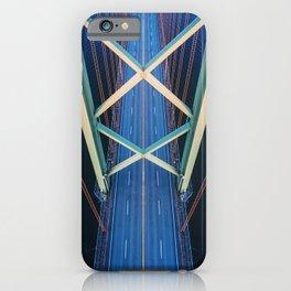 Symmetrical Crossing iPhone Case