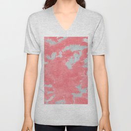 pink marble pattern Unisex V-Neck