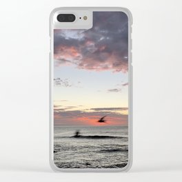 Birds flying by at Bronte Beach, NSW, Australia Clear iPhone Case