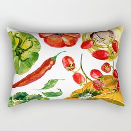 Vegetable mix Rectangular Pillow