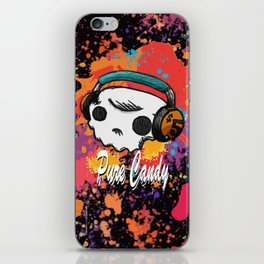 Skull headphones Pure Candy iPhone Skin